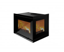 Unico 11 inserti a legna in vetro nero