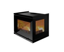 Unico 13 inserti a legna in vetro nero