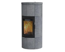 Maestro 1 con porta nera stufe a legna in pietra ollare con accumulo