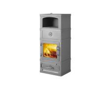 2260 grigia stufe a legna con forno in acciaio