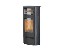 Jubilee 35IN BF  stufe a legna con forno in acciaio con rivestimento in pietra indian night